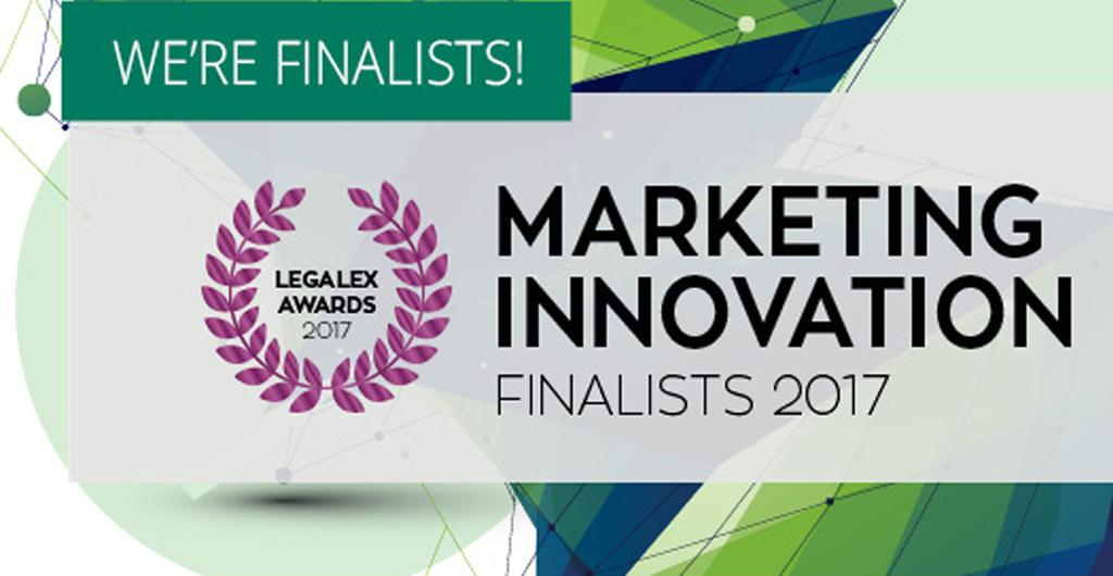 LegalEx Marketing Innovation Award 2017 finalists