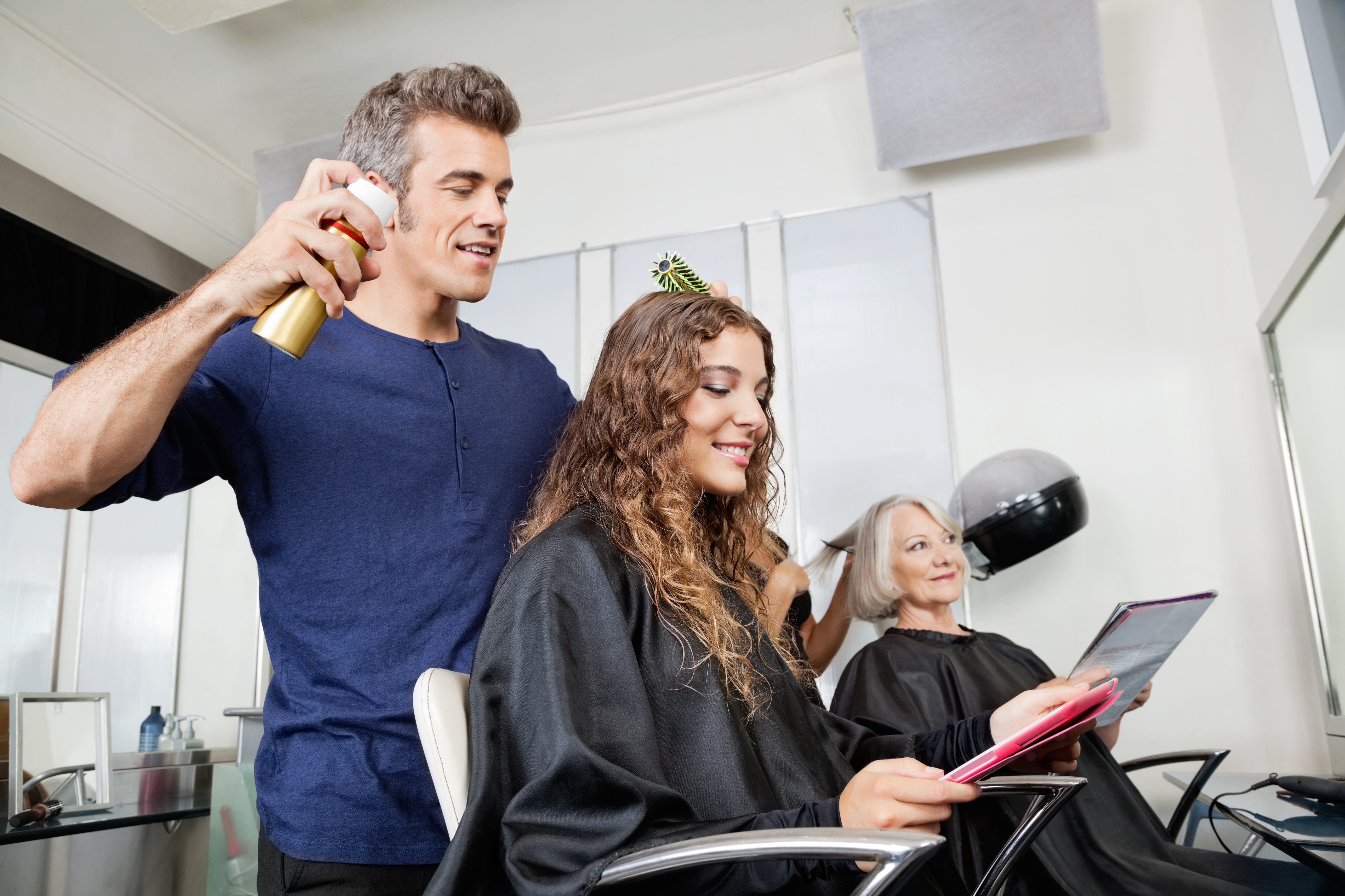 Explaining the need for insurance in a salon