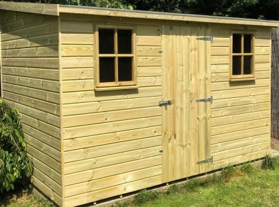 Reverse Berkshire Pent Shed