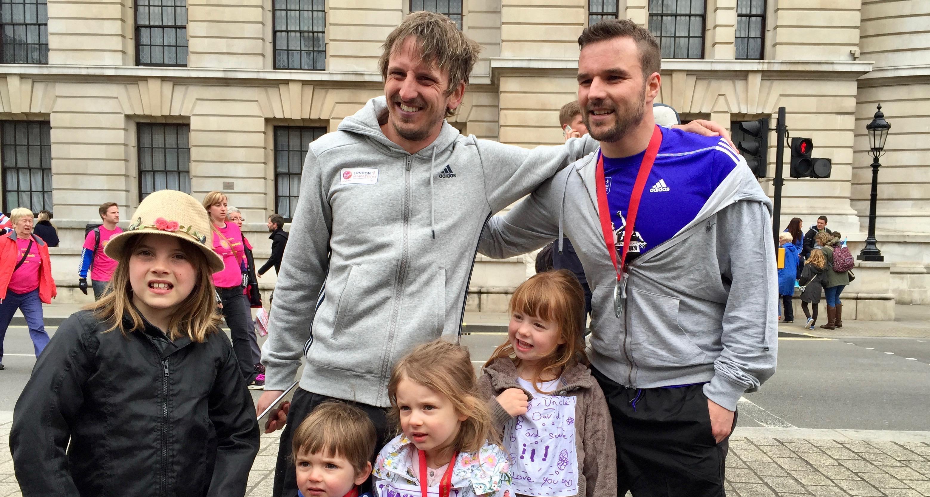 david-kosh-and-stevan-smith-london-marathon-2015