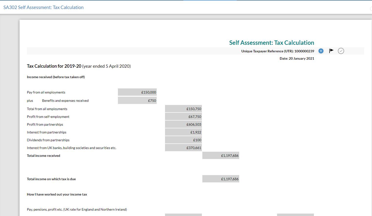 sa302-tax-calculation