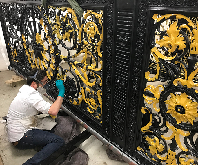 Golden gates in the workshop